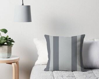 Gray Pillow, Gray Throw Pillow, Gray Decorative Pillow, Gray Toss Pillow, Black Gray Pillow, Gray Pillow Case, Black Gray Bedding, Gray Room