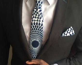 WAX blue tie
