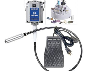 Foredom's Jeweler's Jewelry Making Kit w/ 1/6 HP and 115V Flexible Shaft Machine Accessories - K.2230