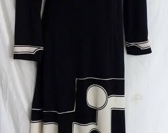 Paganne Gene Berk  jersey vintage gown dress 10-12
