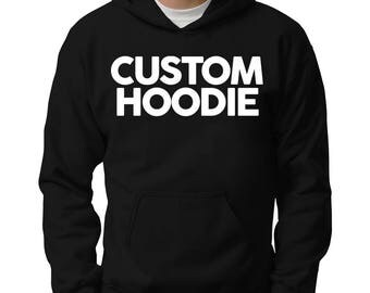 Get your own text on your personalized Men Hoodie