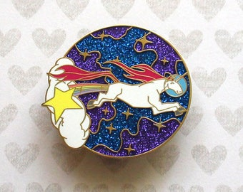 Unicorn Enamel Pin, Space Unicorn, Unicorn Party, Unicorn Lover Gift, Hard Enamel Pin, Enamel Pin, Rainbow Unicorn, Unicorn Gift, Glitter