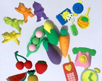 Cute Ninja, Animal, Fruit, and Misc. Eraser Pack
