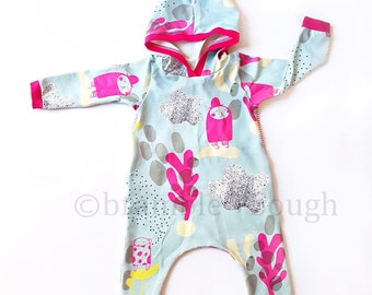 Roo Romper w/ Bum Flap, Baby Girl, Organic Knit, Coming Home Outfit