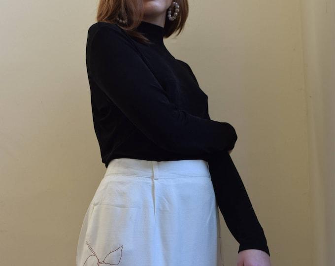 Clementine Skirt White + Terracotta