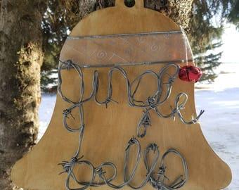 Jingle Bells Christmas Sign