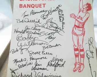 Hurryin' Hoosiers Basketball Banquet Pogram 1976