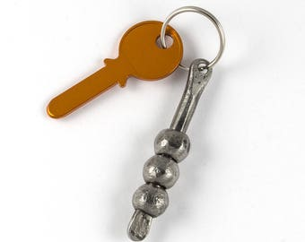 Blacksmith made keychain - brother gift - wrought iron keychain
