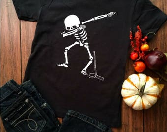 Dabbing Skeleton, Halloween Shirt, Hockey Shirt, Dabbing Hockey Skeleton, Dabbing Shirt