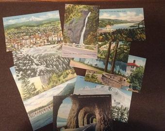 Set of 10 Oregon Scenic Linen Postcards