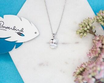 Koala Origami Sterling Silver Short Necklace