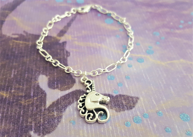 unicorn bracelet fantasy jewelry horse charm bracelet pony