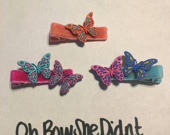 Butterflies butterfly hair clip barrettes