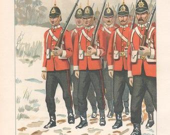 The 68th – Durham Light Infantry, Chromolithograph, 1891.
