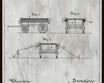 Combination Wagon and Tent Patent #667475 dated Feb. 5, 1901.