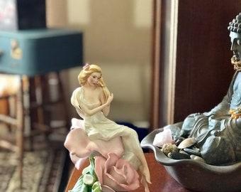 Lady Rose Statue | Franklin Mint 1988 Christian Jegou