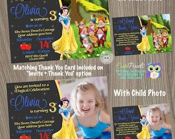 Snow White Invitation, Snow White Birthday Invitation, Snow White Birthday, Disney Princess Invitation, Princess Invitation