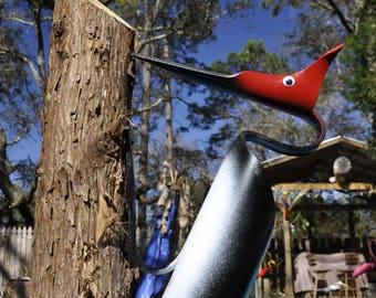 PVC Red Headed Woodpecker Yard Art