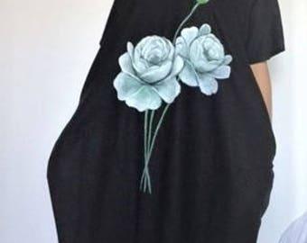 Hand Painted Linen Dress