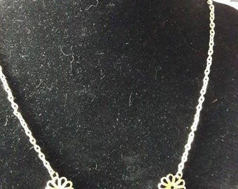 """Necklace mid-length """"Cascade of flowers"""""""