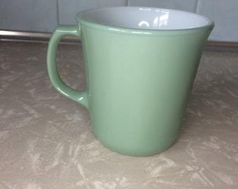 Sage Green Pyrex Mug Cup - Milk Glass - Corning NY USA