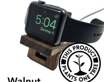Apple Watch stand Apple Watch Dock Wood Apple Watch Stand Apple watch Dock Apple watch holder Apple watch station apple watch gift