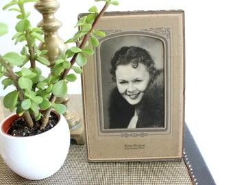 Vintage Photograph, Black & White Portrait