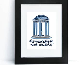 The Old Well - University of North Carolina Chapel Hill, NC Print 8x10