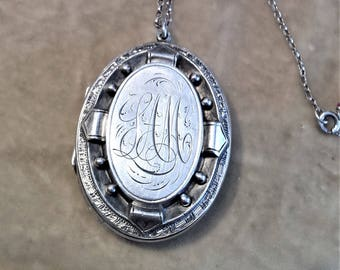 ca.1890 Sterling Silver Locket