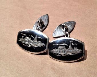 Silver, Siam Cufflinks