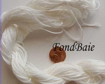FIL Echeveau 25m nylon tressé 1mm BLANC DIY création bracelet shamballa