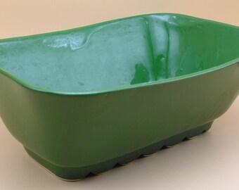 Vintage Shawnee USA Rectangular Green Pottery Planter