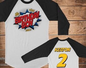 Superhero Birthday Shirt, Birthday Boy Shirt, Birthday Outfit (1083)