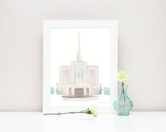 Ogden Temple, Ogden LDS Temple, LDS Ogden Temple, Ogden Temple Art, Ogden Temple Print, Ogden Temple Lds, LDS Temple Art, Lds Art, Ogden