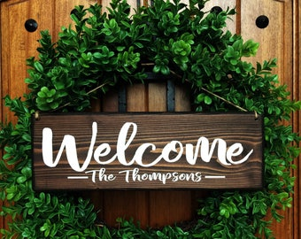 Welcome Sign   Welcome Door Sign   Front Door Sign   Personalized wedding Sign   Personalized Family Sign   Last Name Sign   Family sign