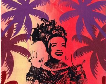 Tropicália (original A3 screen print with colour blend)