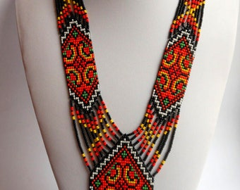 Ukrainian Gerdan Ukrainian jewelry Ukrainian ethnic necklace Long necklace Ukrainian embroidery Traditional Ukrainian Necklace Folk necklace