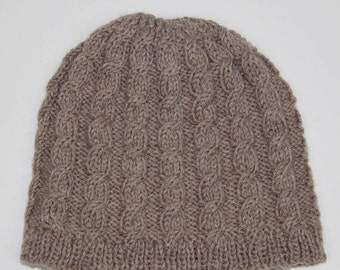 Instant download knitted mens cable hat beanie pattern, Beanie, Cap KP397