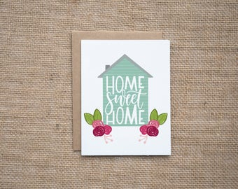 Home Sweet Home, Housewarming Card, New House Card, New Address Card