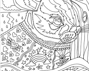 Magical Bunny Colouring Page