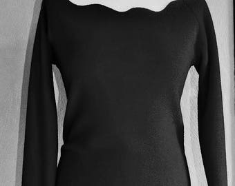 Ruby strapless top in polar black fairy dancer Sanlivine neckline