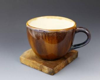 """Big Cup - Crystalline Glaze - """"""""Fiery Sand"""" 15 oz / 450 ml #1"""
