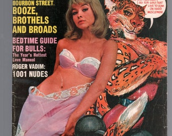 Mature Vintage Mens Girlie Pinup Magazine : Jaguar July 1966  Nude Cheesecake