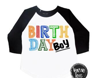 Birthday Boy Shirt - Boys' Birthday Shirts - Any Age - Multi- Color Birthday Shirt -Boys' Shirts - Birthday Outfit - Trendy Birthday Shirt