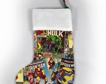 Superhero stocking | Etsy