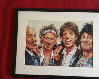The Rolling Stones, new print and frame.