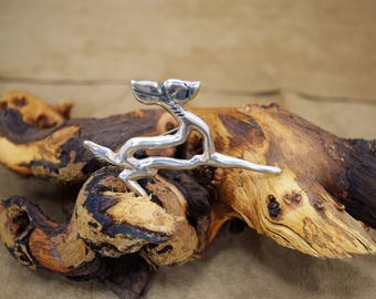 Fantastic Navajo Sterling Silver Deer Pin