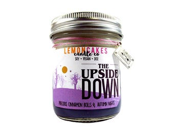 The Upside Down - TV Inspired Candle - 8oz Soy Candle - LemonCakes Candle Co - Precious Cinnamon Rolls & Autumn Nights