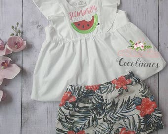 Baby girl bloomers and top