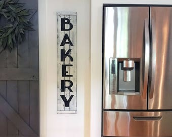 BAKERY SIGN 48 X 95 Rustic Bakery Sign Wood
